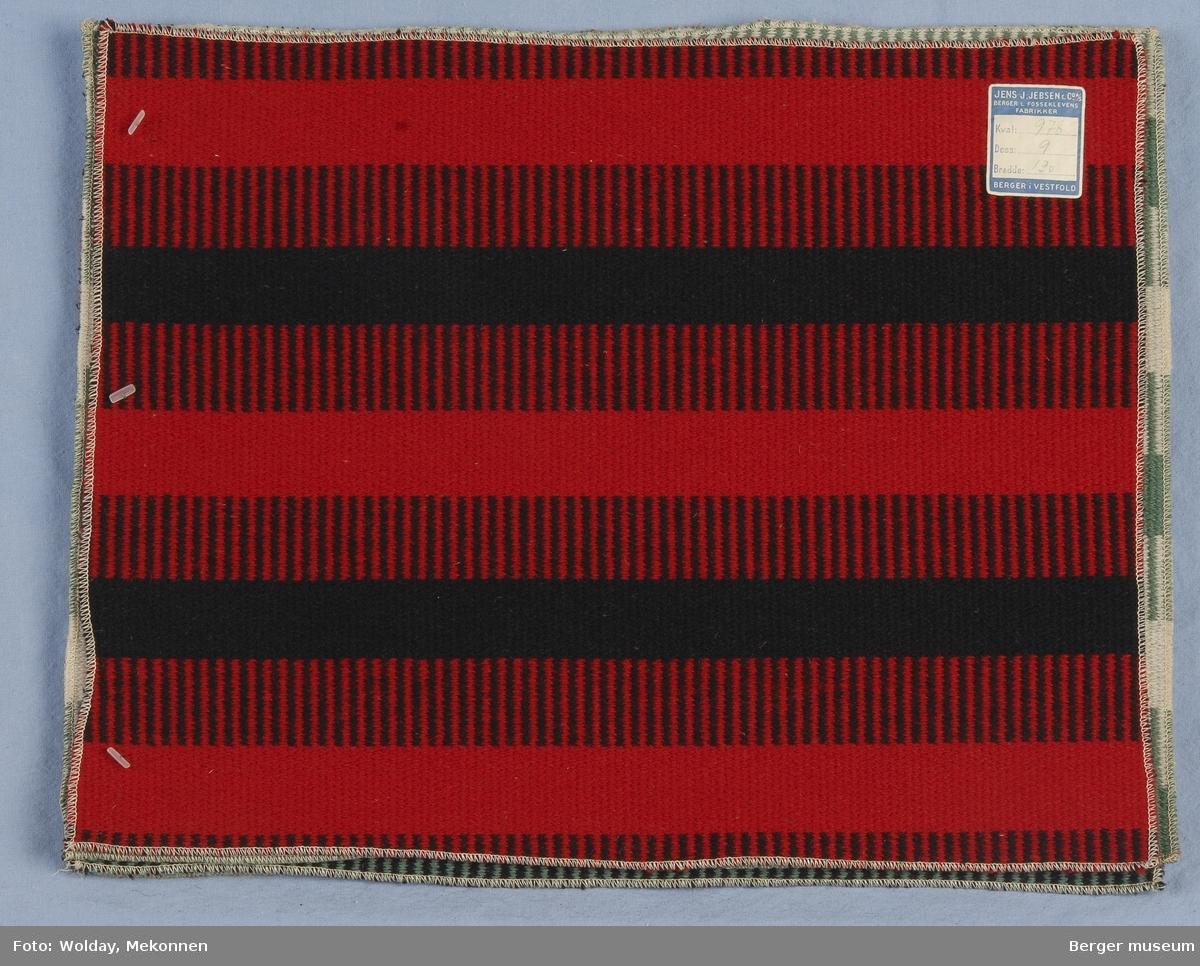 Møbelstoff 5 prøver Tverrstripet - brede striper