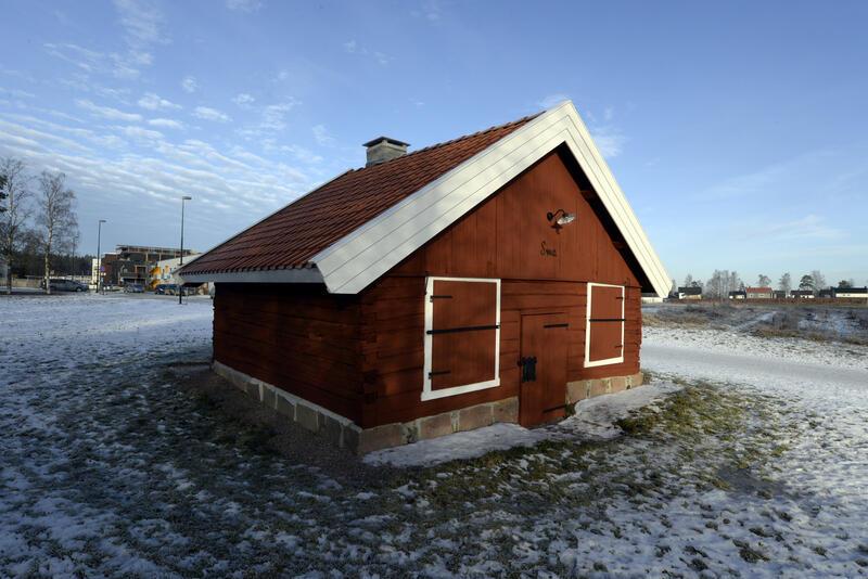 Den eldste delen av smia på Huseby Bygdemuseum etter restaurering i 2015.
