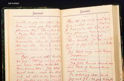 Fra dagbok for personlige opptegnelser.  Boka har tilhørt Ko