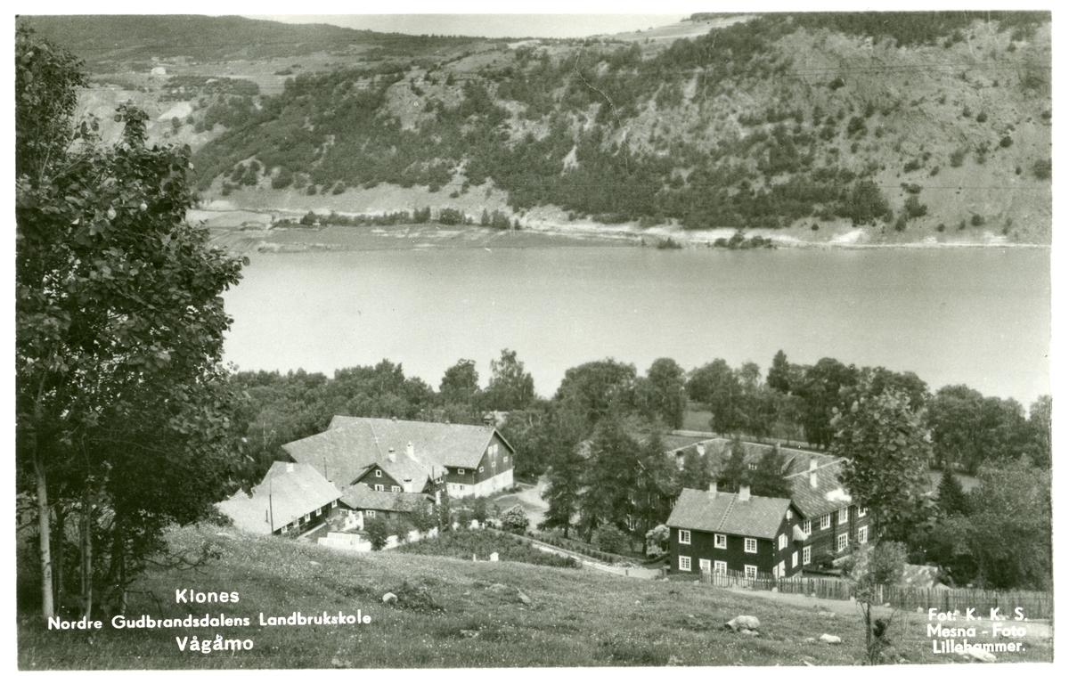 Klones Landbruksskule, Vågåmo, Vågå. Postkort.