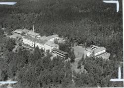 Flygfoto över sanatoriet i Målilla.