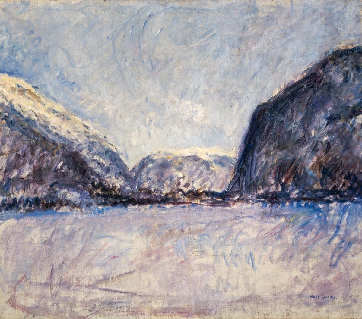 Vinter, Lærdal [Maleri]