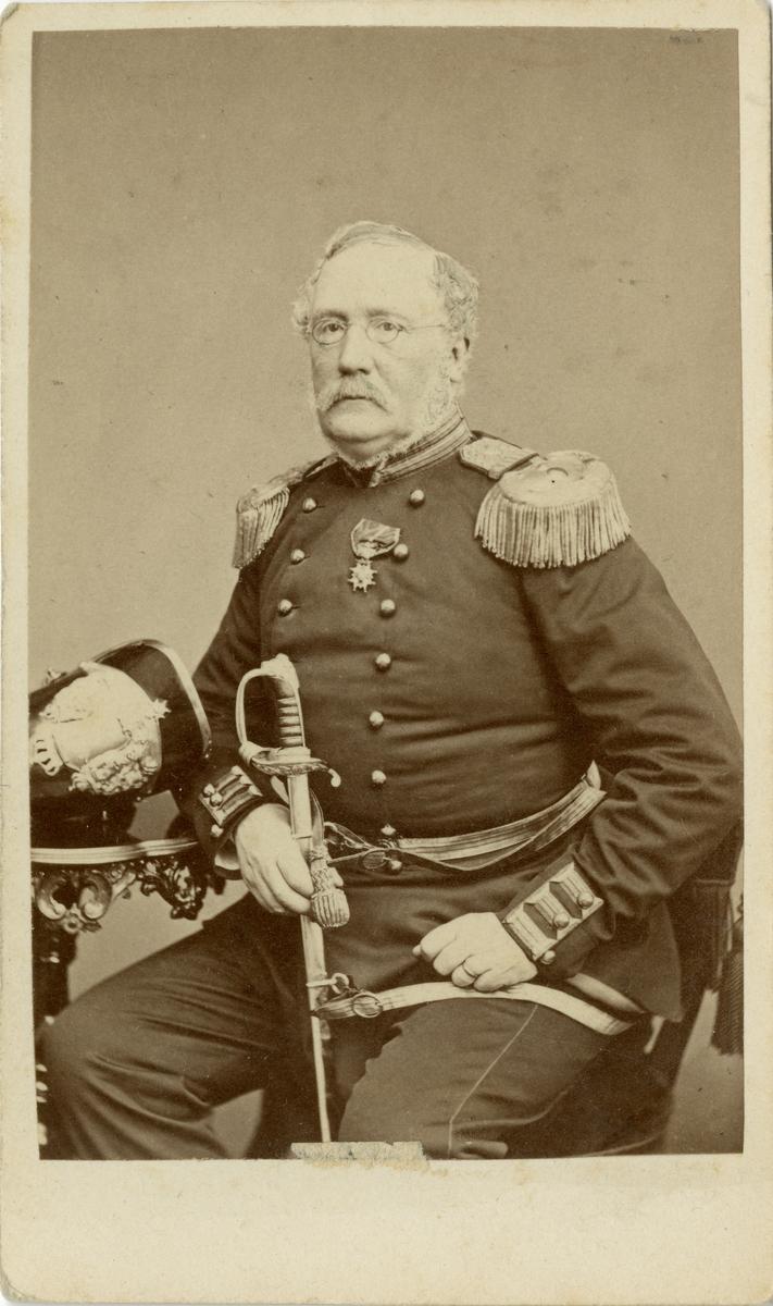 Porträtt av major Nils Fredrik Hjertström.