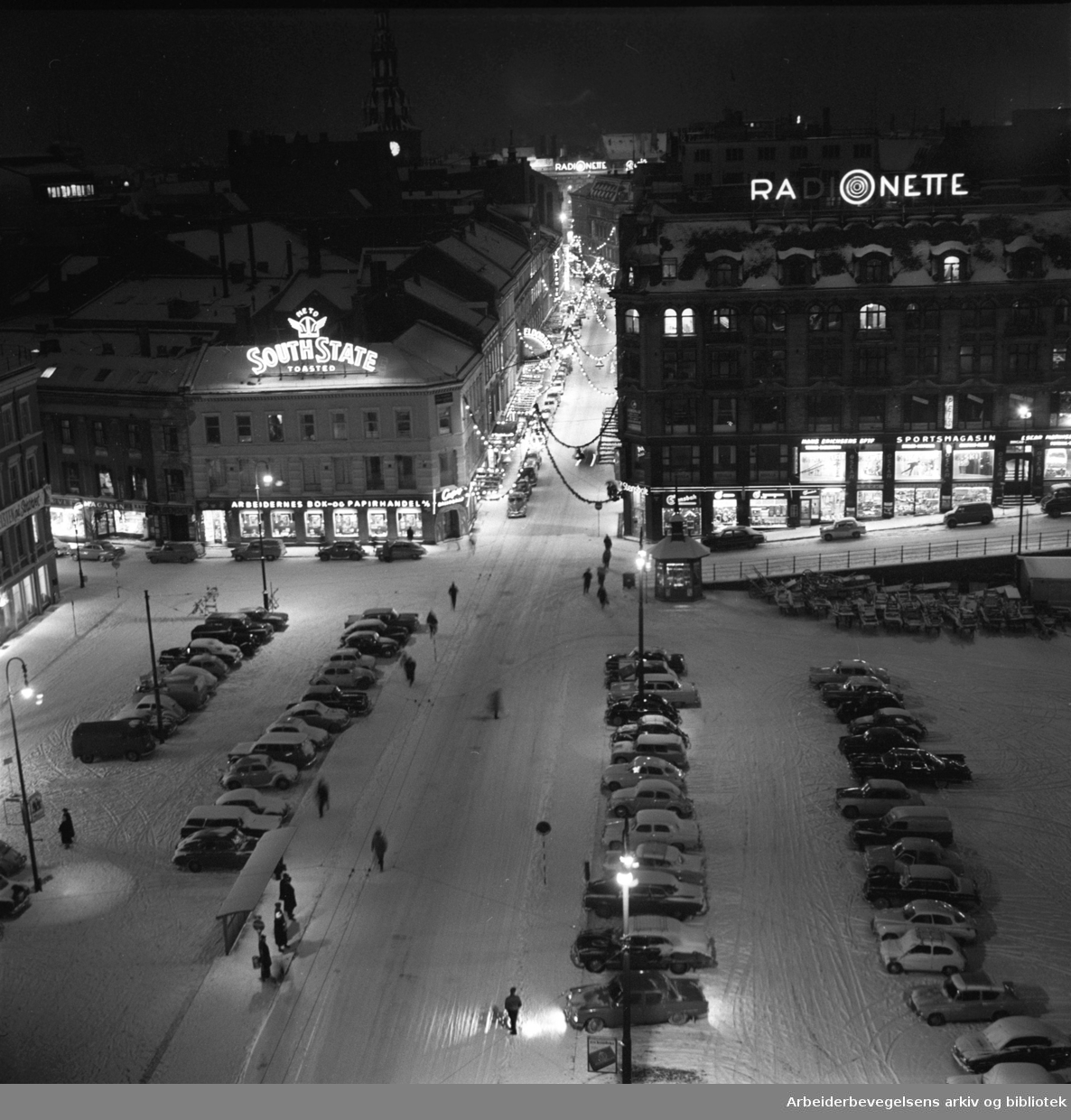 Youngstorget, desember 1962.