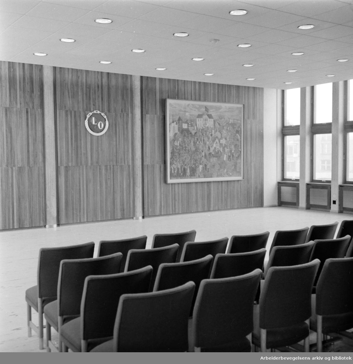 Folkets Hus: Interiør, april 1958