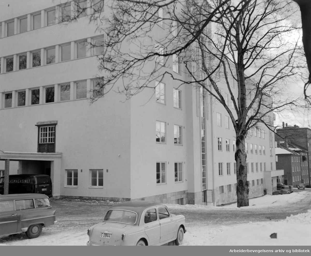 Kronprinsesse Märthas institutt.Polioinstituttet ved Carl Berners Plass.Juli 1956