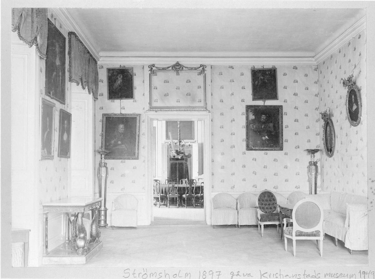 Strömsholms slott, interiör 1897.