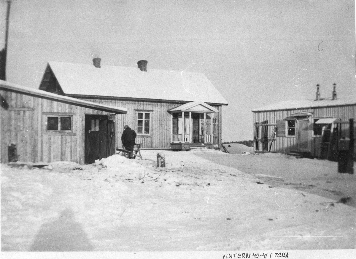 Byggnad i Tossa, Haparanda, vintern 1940-1941.