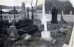 Mosling familiens private kirkegård før den ble flyttet til
