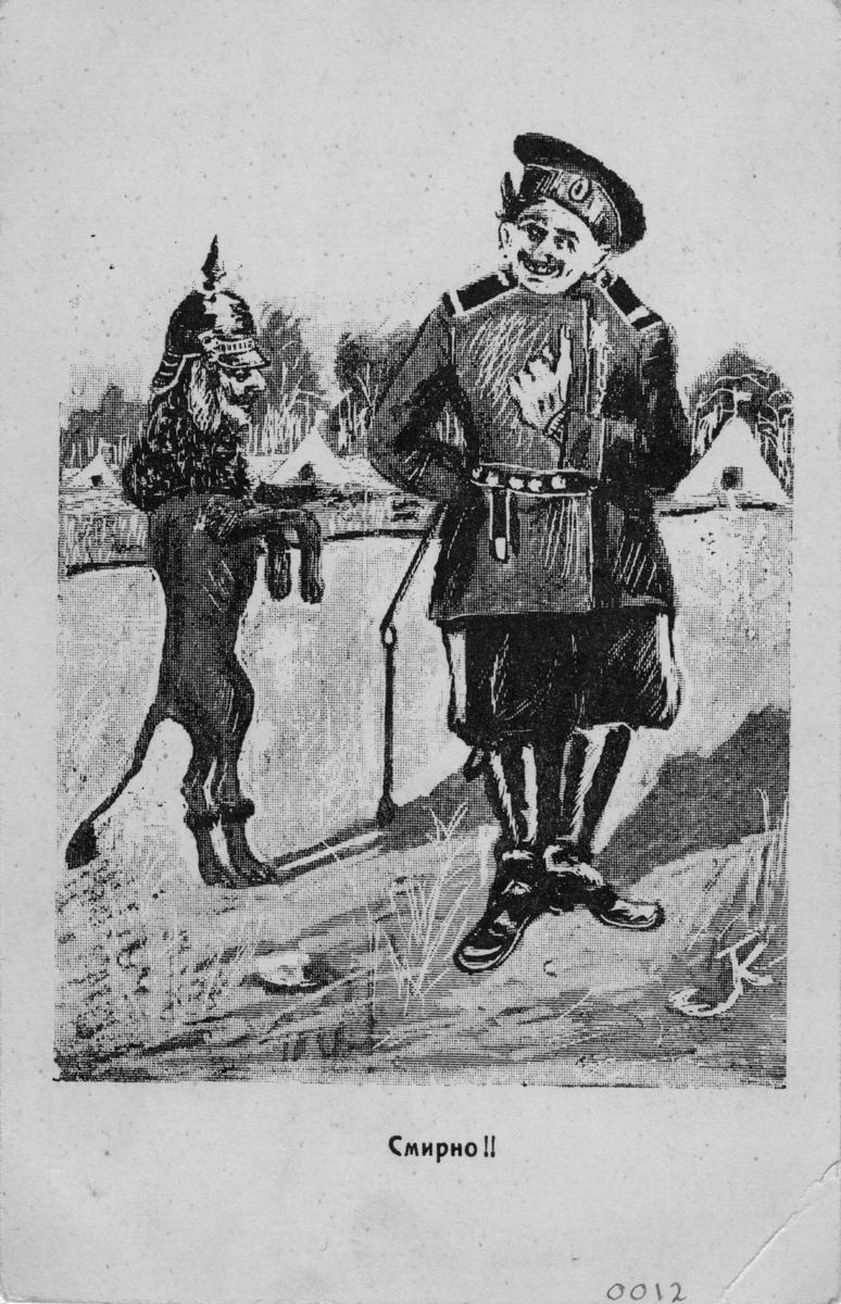 Rysk propagandabild från första världskriget.