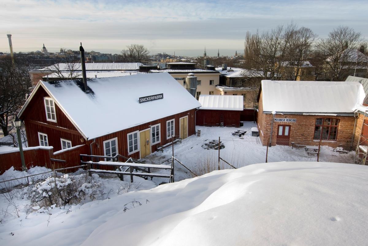 Mekaniska verkstaden och Snickerifabriken på Skansen.