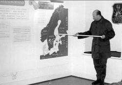 Gen Wheeler, generalstabschef, på besök i Karlsborgs museum