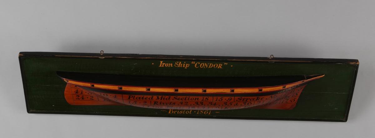 Halvmodell av jernskip CONDOR av Bristol.