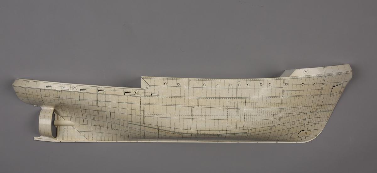 Halvmodell/platemodell av bjerngningsbåt/slepebåt AIOLOS.