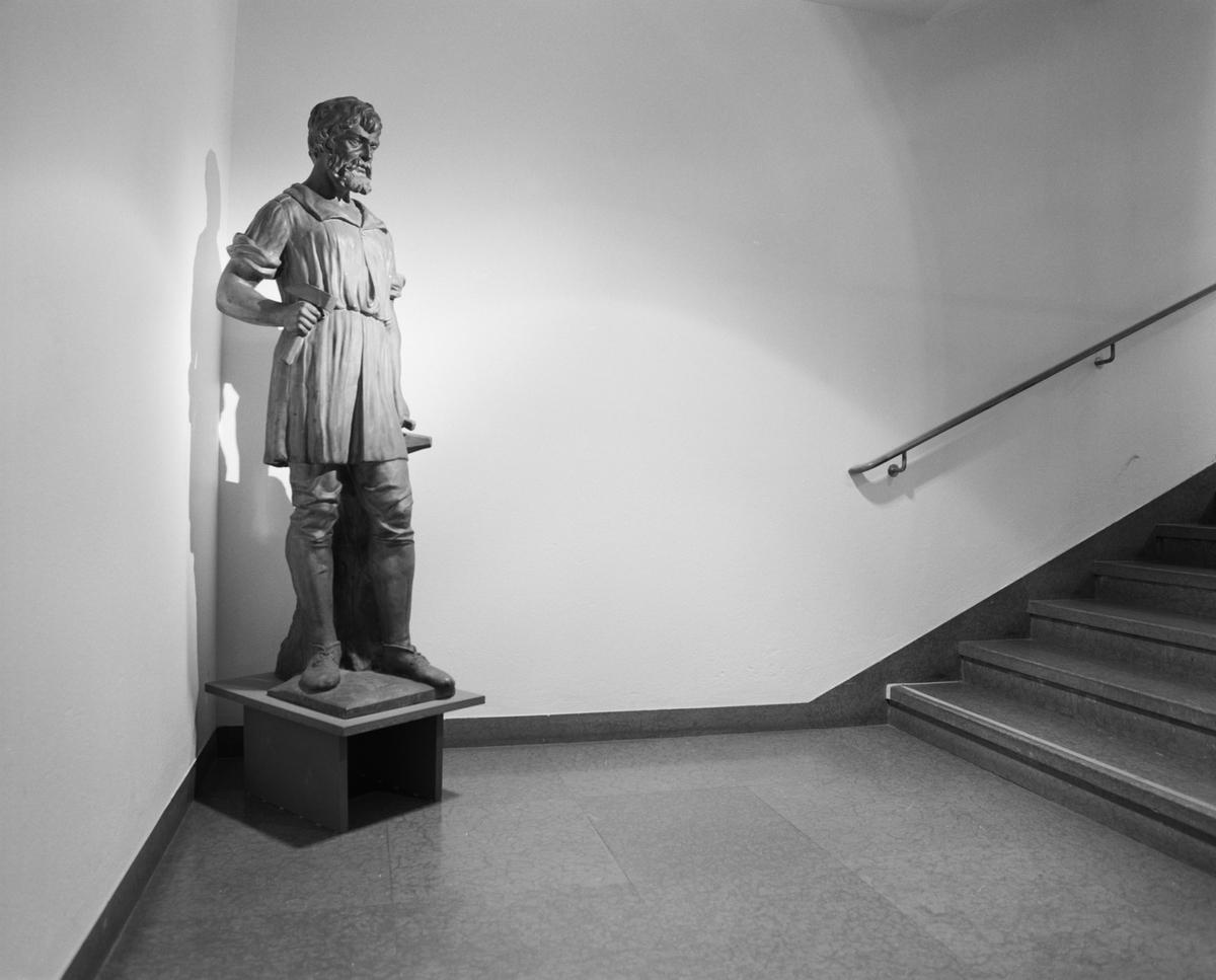 Dokumentation av Ferrum. Staty i trapphuset.
