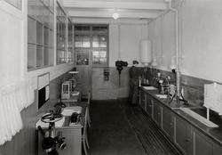 Luleå Trämassefabrik. Laboratorium.