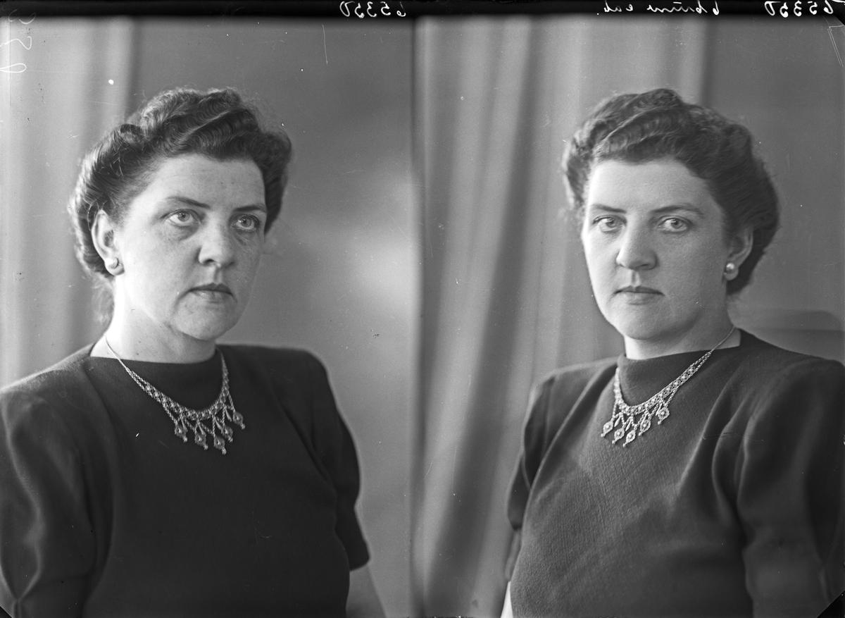 Portrett. Ung kvinne. Bestillt av Frk Gudrun Morken. Adr. Fru Hovland.