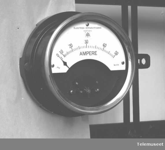 Måleinstrument, amperemeter, okt 1916. Elektrisk Bureau.