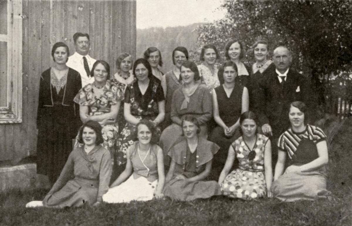 Elever ved Vestoppland folkehøgskule. Vårkurs 1933.