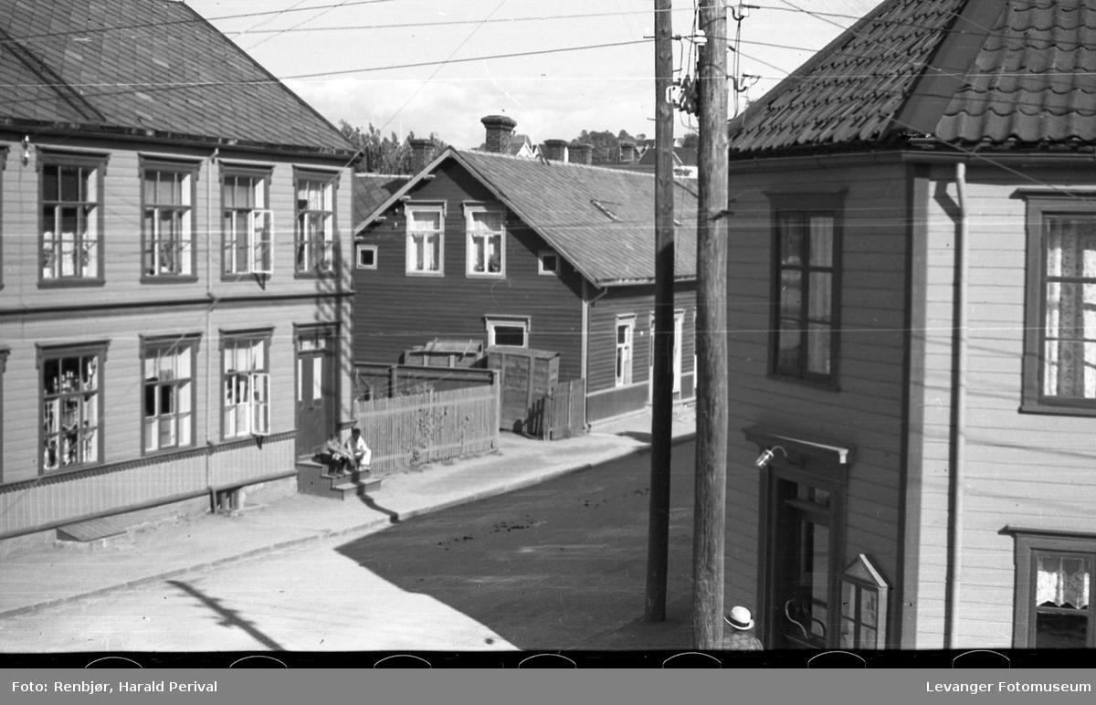 Utsikt fra Renbjørs hjørnevindu.