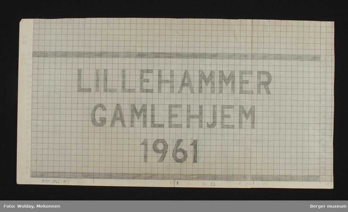"""""""LILLEHAMMER GAMLEHJEM 1961"""""""