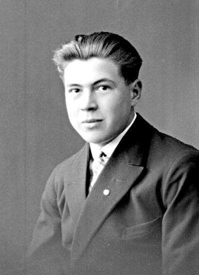 Bildtext: Hilding Svensson, Box 19, Lundsbrunn. År 1929.