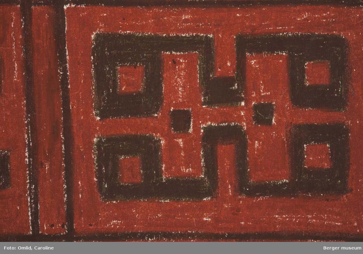 Geometriske mønstre  satt inn i rektangulære felt