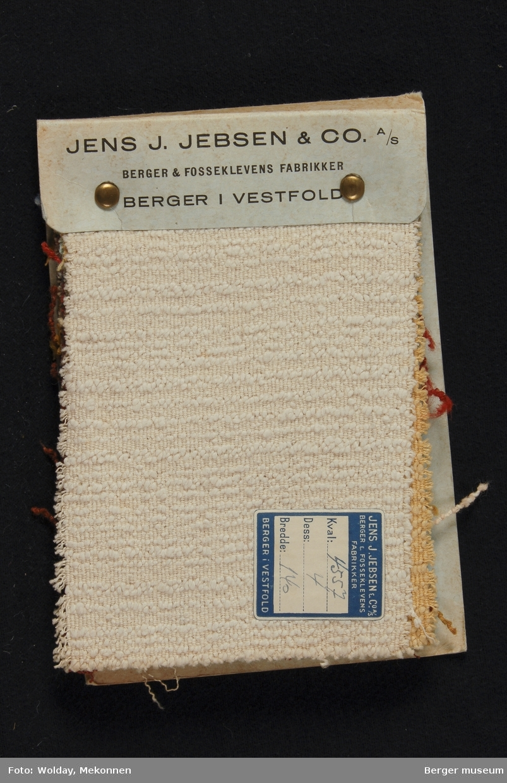 Prøvebok med 9 prøver. Kval. 4557 Deko-stoff Ull-Rayon