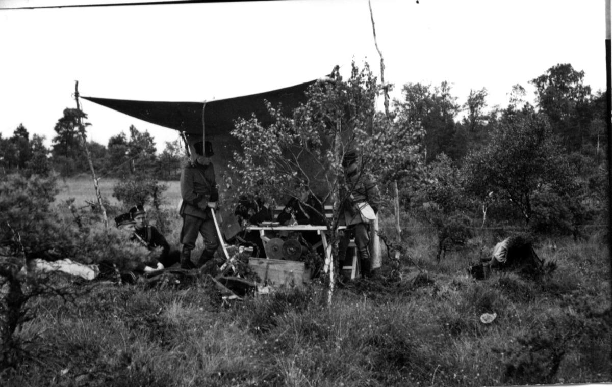 Sambandsplats under signalövning, i sydvästra Småland, A6