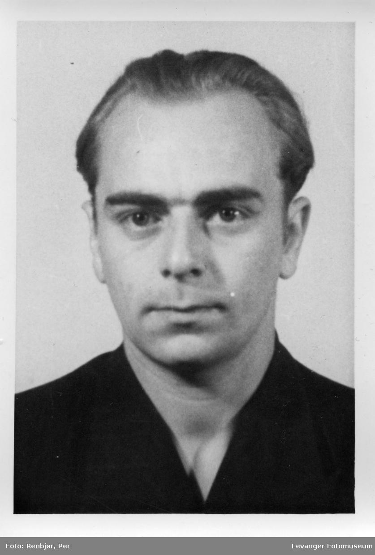 Harald Grøtte medlem av Rinnanbanden, fotografi tatt i forbindelse med rettsaken.