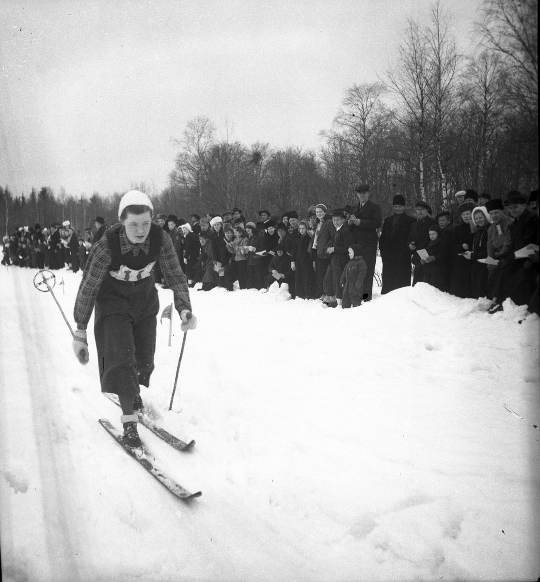 Skidtävlingar i Kungsgården. 1943