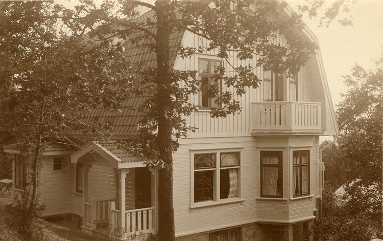 """Enligt Bengt Lundins noteringar: """"Lyckeberg. Entré och gavel""""."""