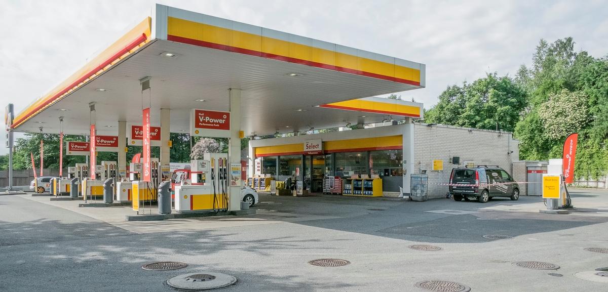 Shell bensinstasjon Drammensveien Stabekk Bærum