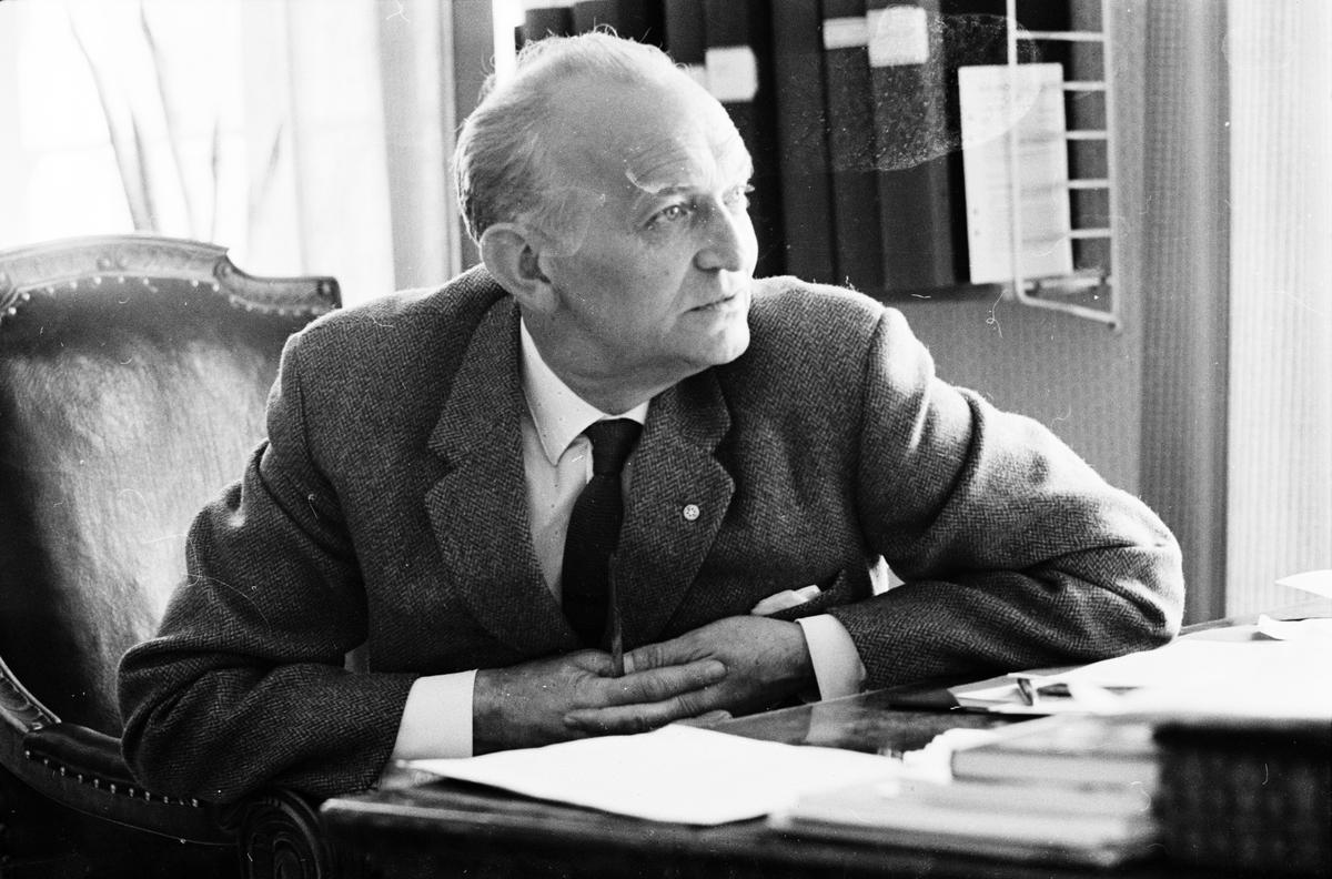 Fängelsedirektör Enar Lundborg på Uppsala ungdomsfängelse