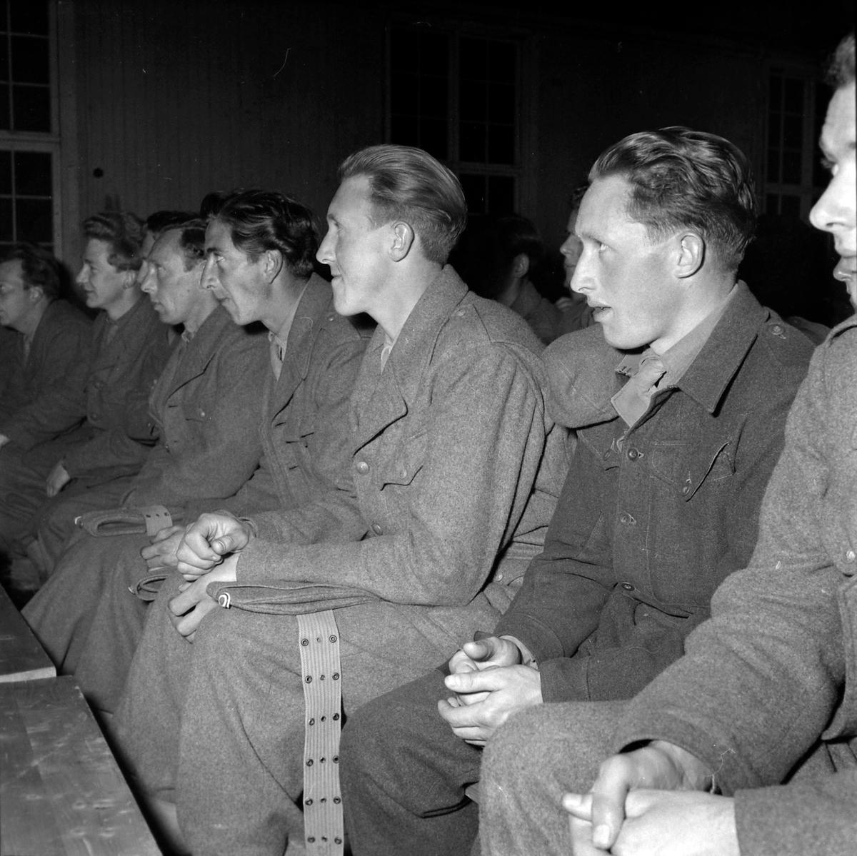 Underholdning for soldater i Øysand leir