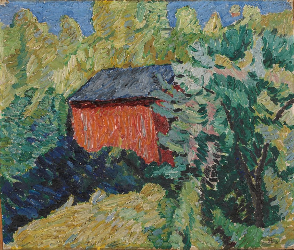 Sommer i Kviteseid [Maleri]