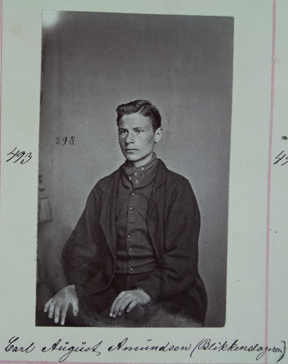 Fangeportrett, Carl August Amundsen
