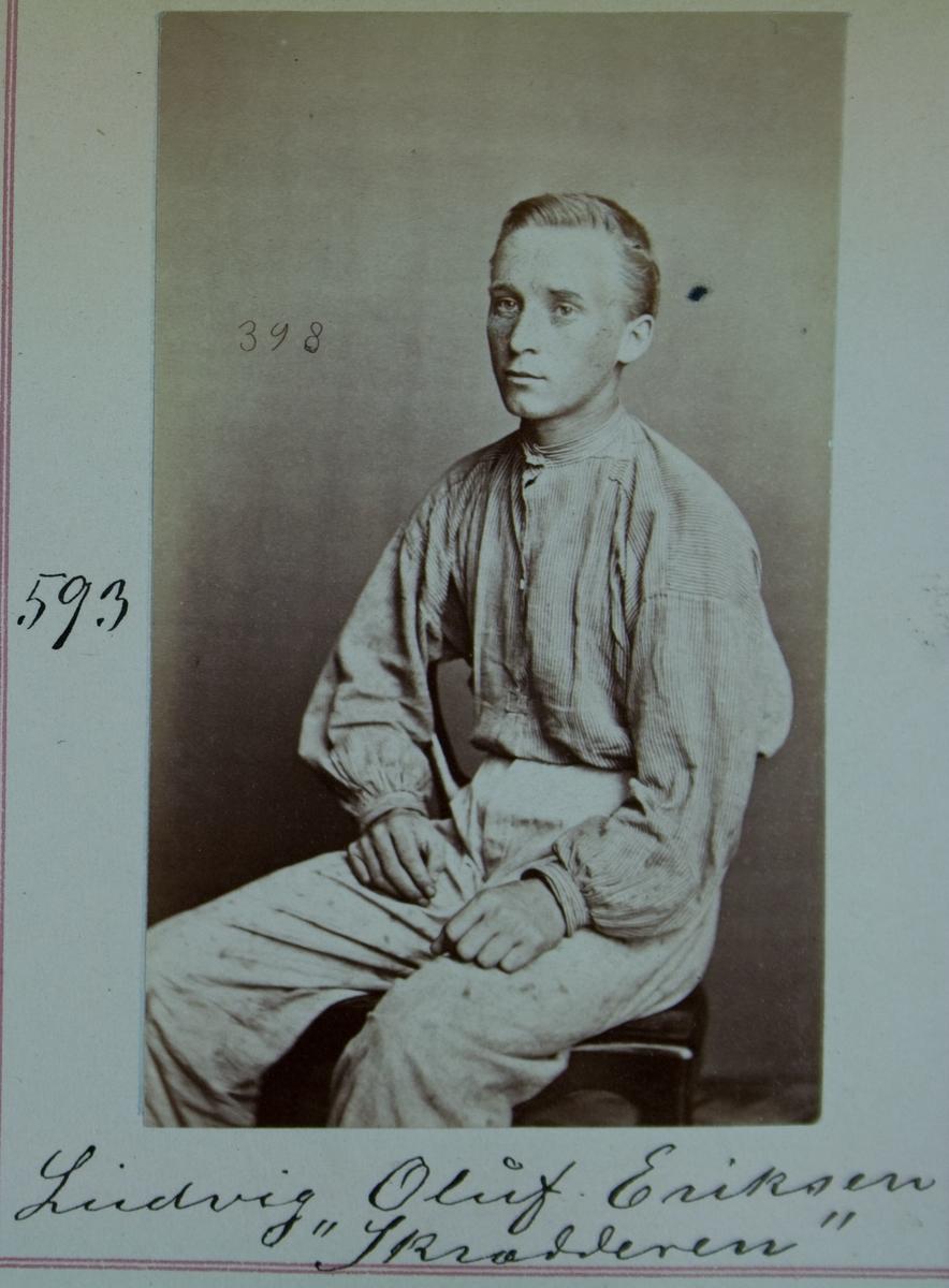 Fangeportrett, Ludvig Oluf Eriksen