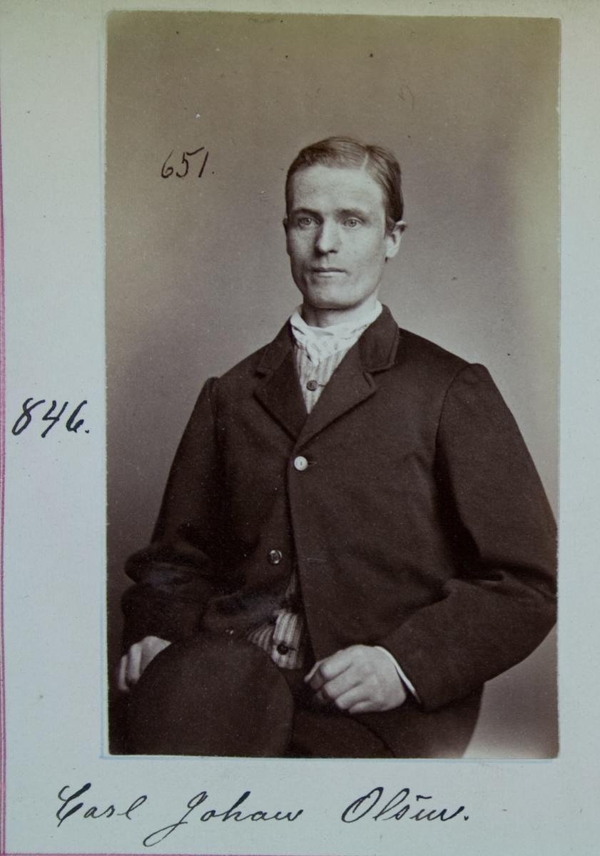 Fangeportrett, Carl Johan Olsen