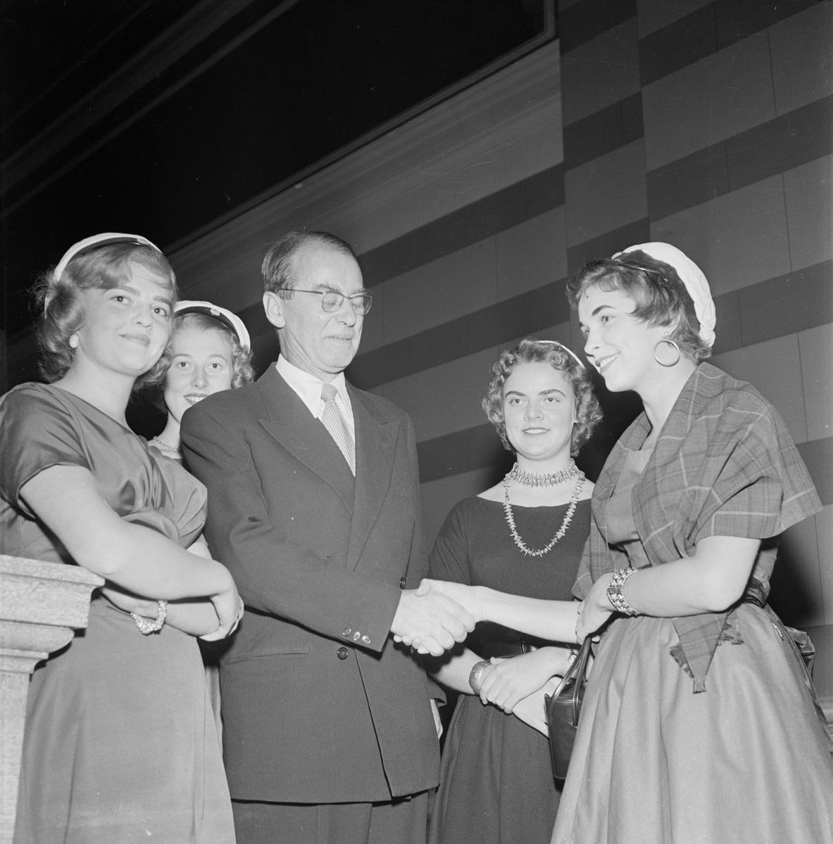 Recentiorer, mottagning, Uppsala 1955