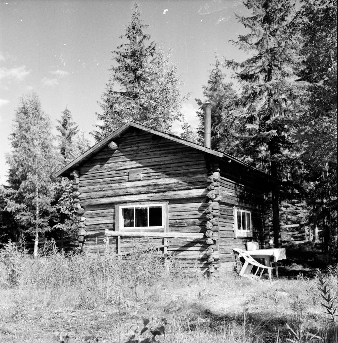 Lindin Ester, Stuga, Vallåsen, 2 Juli 1956