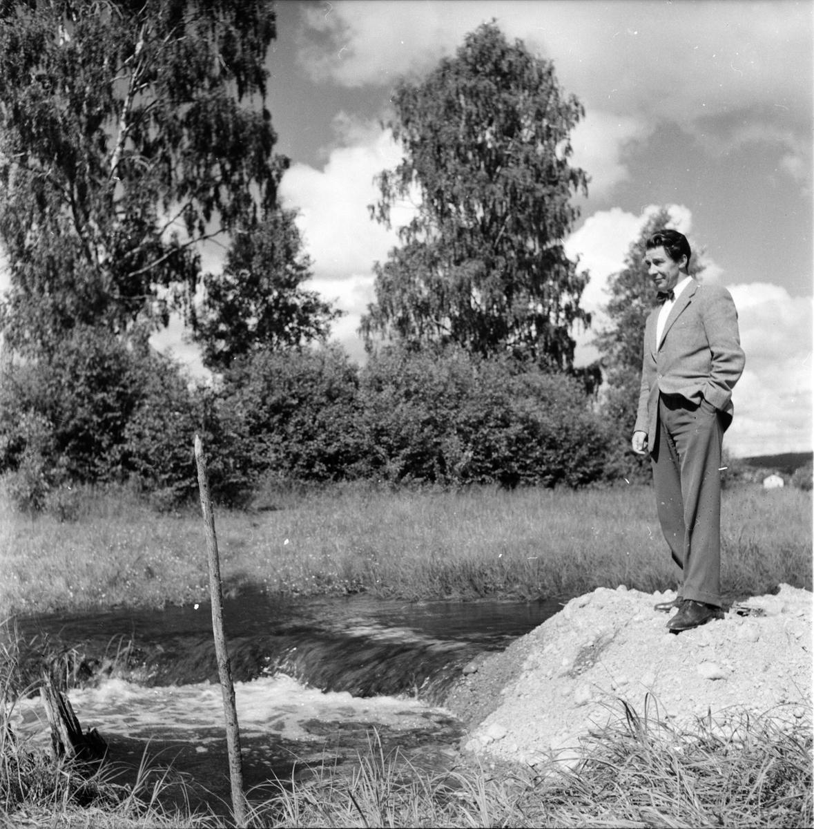 Vågen, Dammen, Stadsing St Sandström Bild 12 Juli 1957