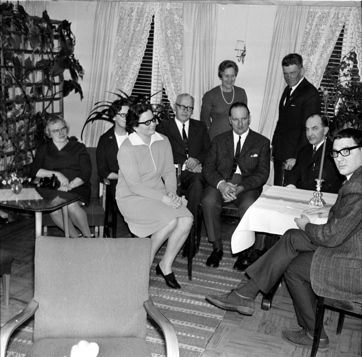 Arbrå, Folkpartiträff på Vilan, Mars 1968