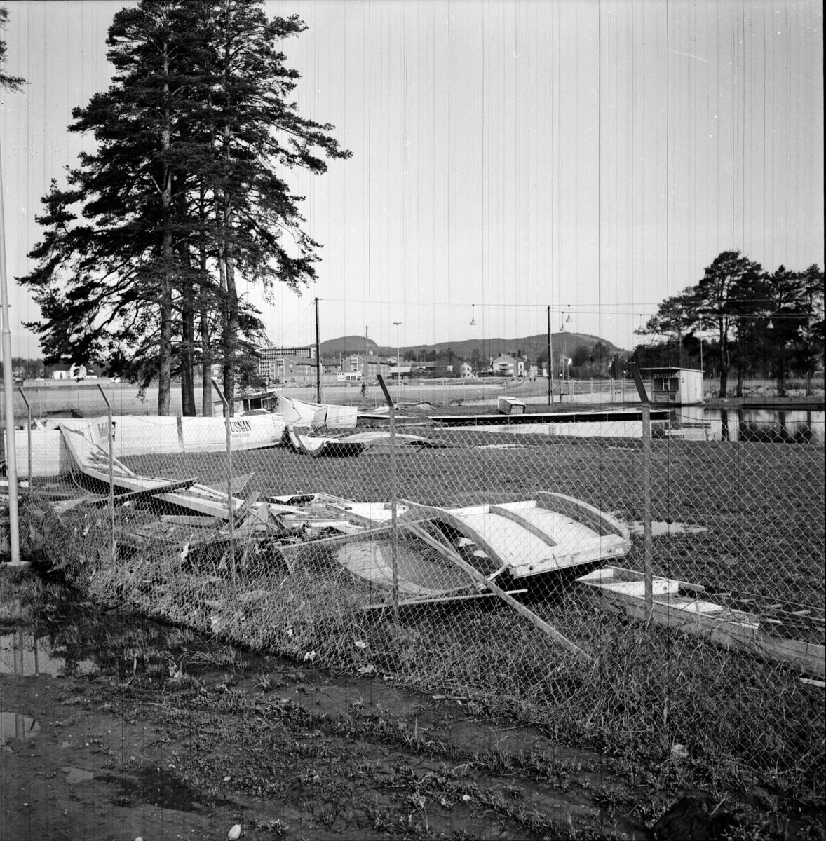 Långnäs idrottsplats, Vårflodens verk, 27 Maj 1966