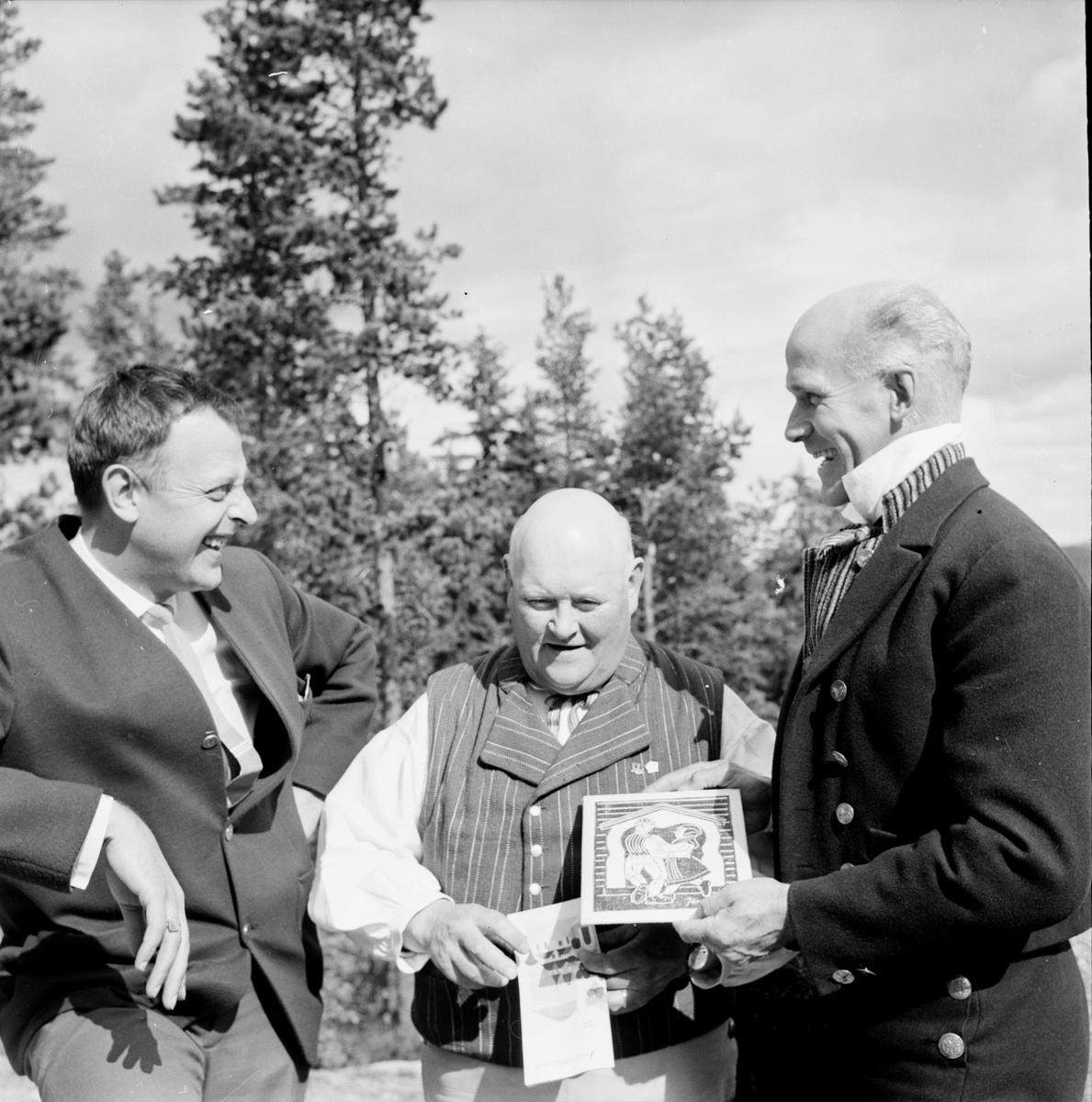Landskapsleken, Inform i Järvsö, Öberg,Tjock-Anders,Lars Hansson, 4 Juli 1965
