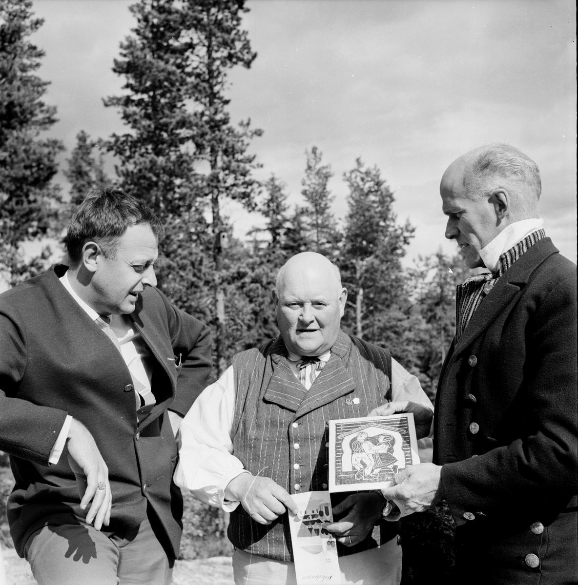 Landskapsleken, Inform i Järvsö, Öberg, Tjock-Anders, Lars Hansson, 4 Juli 1965