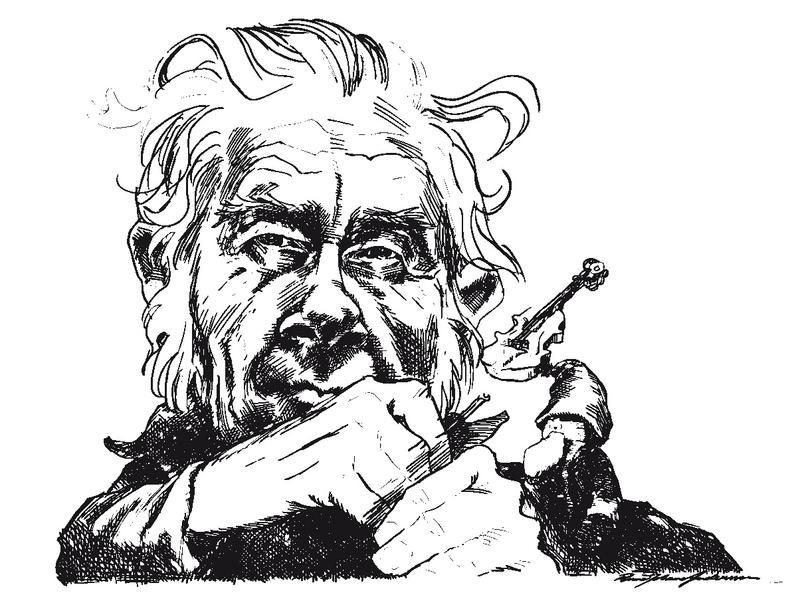 Karikaturtegning av Vidar Sandbeck.
