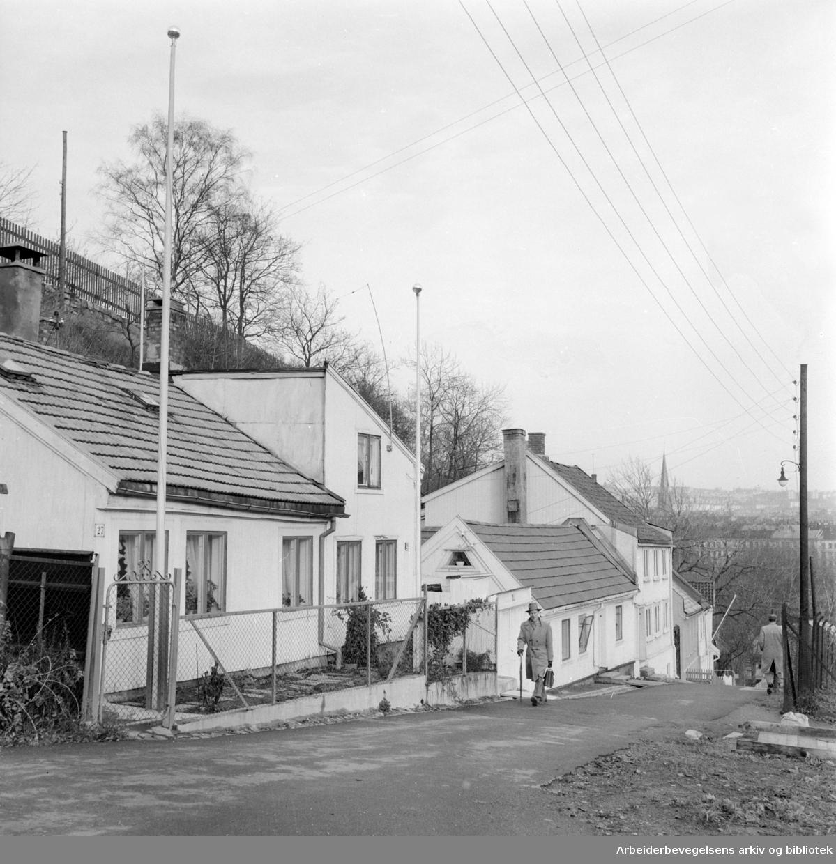 Telthusbakken. November 1957