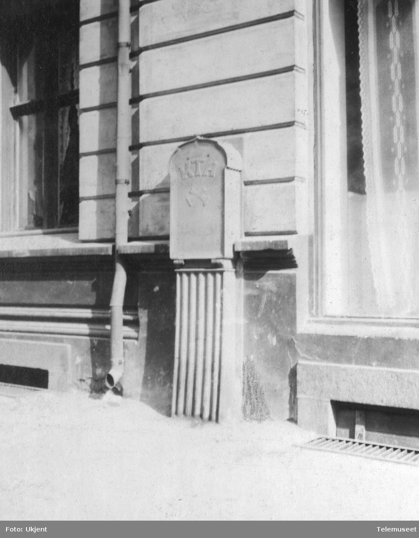 Støpejernsfordeler 100 pars for Kristiania Telefonanlegg i Reichweinsgate 3