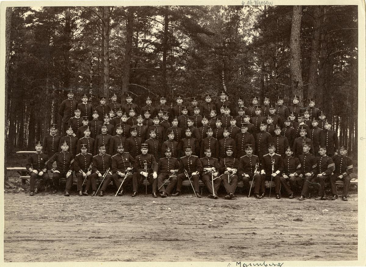 1 kompaniet av infanterivolontärskolan på Karlberg 1893-1894.